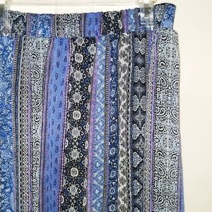 Purple & Blue Print Skirt